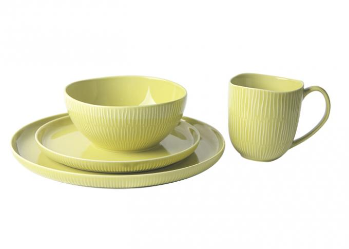 Durable Stoneware Crockery Sets , Forma Shine Color Oven Safe Dinnerware Stoneware