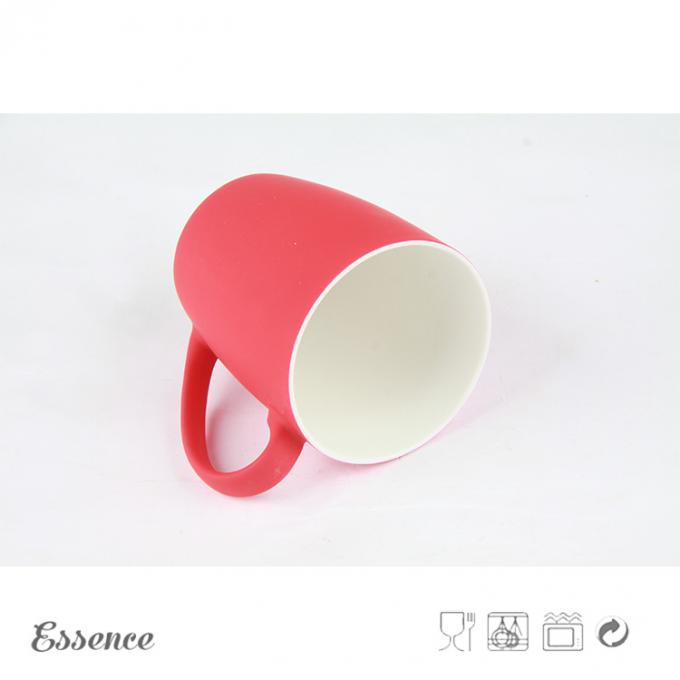Silicone Finish 13 Oz Bone China Cups And Mugs / Coffee Mug With Silky Soft Touch