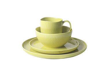 China Durable Stoneware Crockery Sets , Forma Shine Color Oven Safe Dinnerware Stoneware supplier