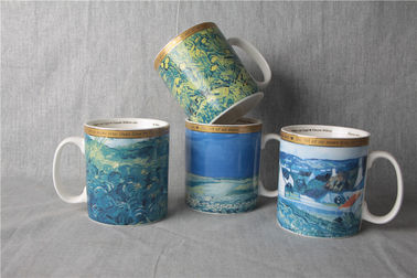 China 20 Oz Ceramic Stoneware Mugs , Exquisite Printing Drink Ware Porcelain Coffee Cup supplier