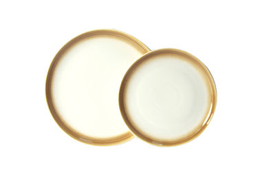Different Colored Ceramic Dinner Plates With Reactive Effects 27cm