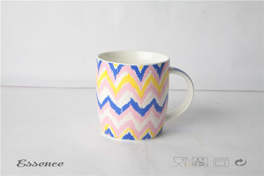 China Bright Colorful Fine Bone China Mugs , Ceramic Travel Coffee Cup With Logo Printing supplier