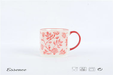 Hand Printing Custom Stoneware Mugs Kicthen Ware Stackable Tea Cup Dishwasher Safe