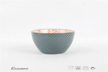 China non toxic Microwavable Cereal Bowls , 6 Inch Stoneware Soup Bowls for Salad / Snack supplier