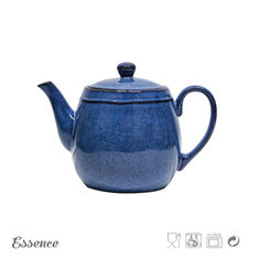 China 1385ml Ceramic Teapot Set / Stoneware Teapot Bulk With Reactive Glaze supplier