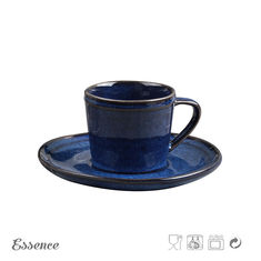 China 230ml Ceramic Tea Coffee Set / Cup Set , Stoneware Cup And Saucer Eco Friendly supplier