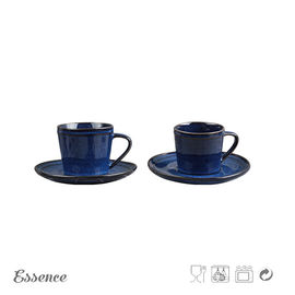 4OZ Ceramic Tea Coffee Set / Tea Cup Set Reactive Glaze For Office / Home