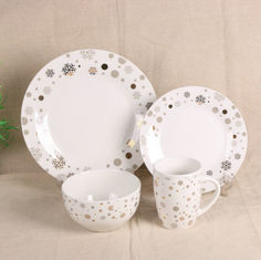China Luxury EU Style Bone China Dinnerware Sets , Tableware Dinnerware Sets For Gift supplier