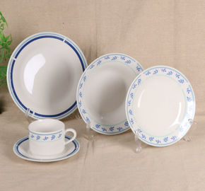 China Ceramic New White Bone China Dinner Sets Custom Color With Flower Printing supplier