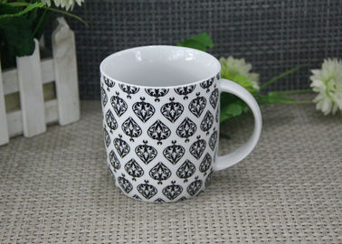China 300ml Super White Porcelain Mugs With Decal FDA And CA65 Approved supplier