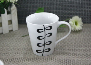 11OZ White Porcelain Coffee Mugs Decal Printing Dishwasher and Microwave Safe