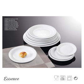 White Ceramic Dessert Plates Unglazed Porcelain Type For Restaurant And Hotel