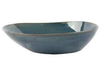 China Blue Organic Salad Serving Bowl , 20CM Porcelain Dessert Bowls With Reactive Color supplier