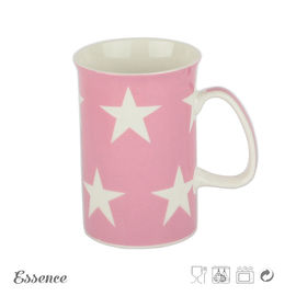 Promotional Bone China Mugs Custom Decal Printing Star Shape Microwave Safe