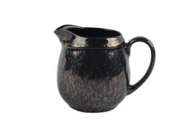 Metallic Glazed Ceramic Milk Pot 300ml For Coffee Shops Or Home Use