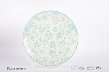 "11"" Large Beautiful Ceramic Dinner Plates Pad Painted Round Shape For Restaurant / Home"